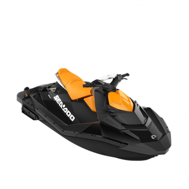 SEADOO SPARK 90hp 2 up iBR Deep Black / Mango Orange