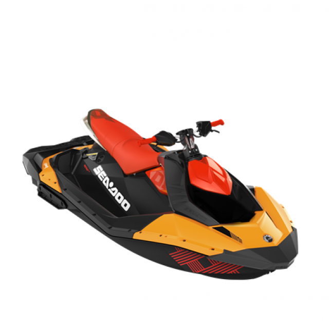 SEADOO SPARK TRIXX 90hp 3 up iBR Orange Crush / Canam Red
