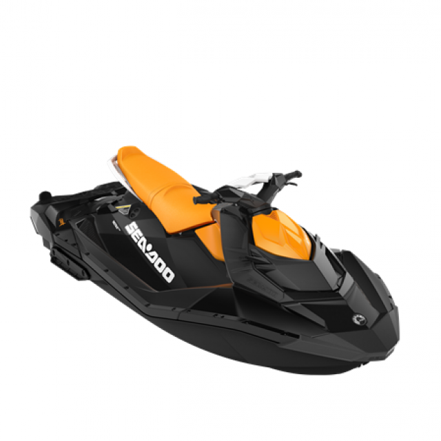 SEADOO SPARK 90hp 3 up iBR Deep Black / Mango Orange