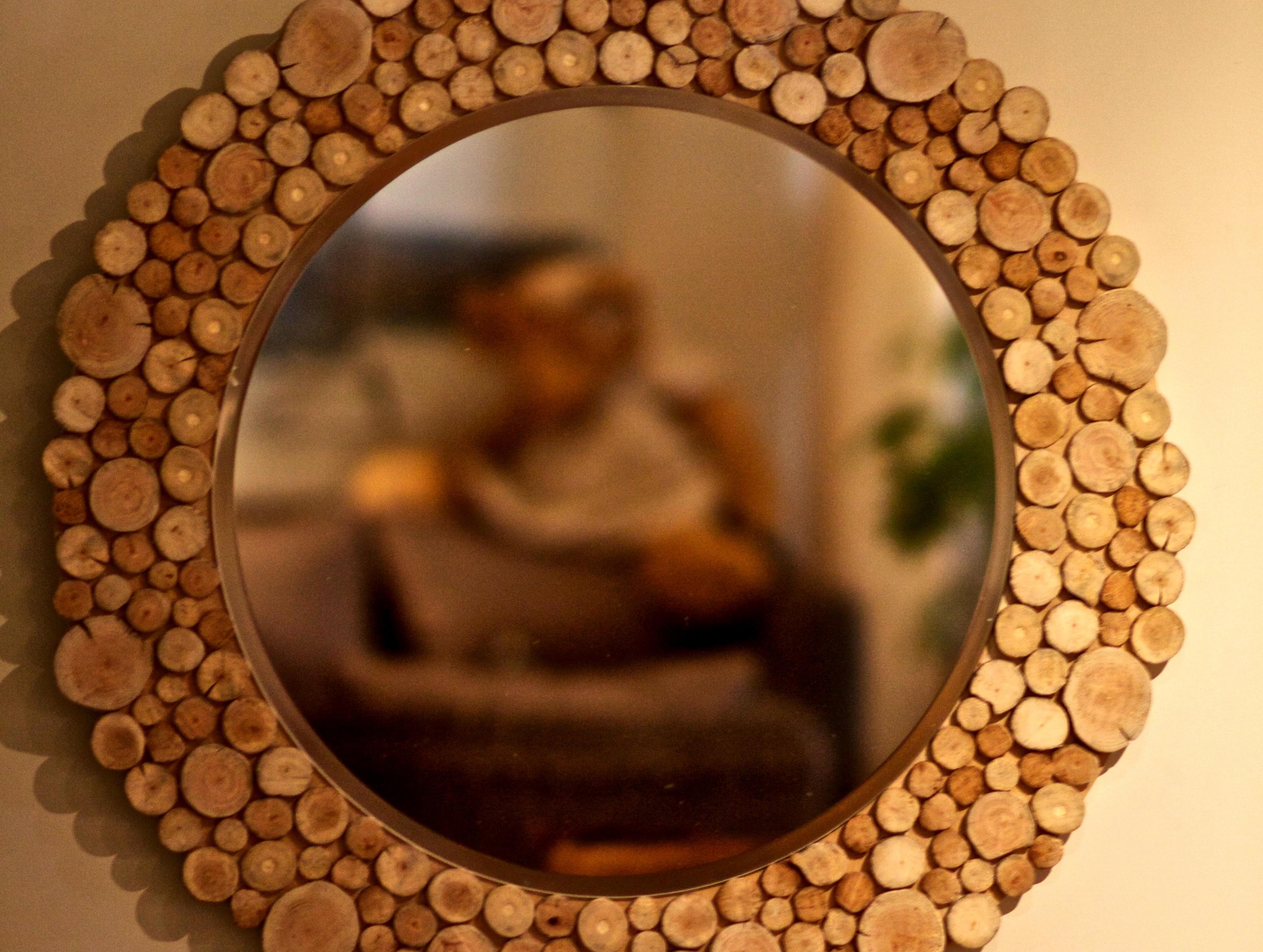 Miroir en bois flott au clair de lune luminaires for Miroir en bois flotte