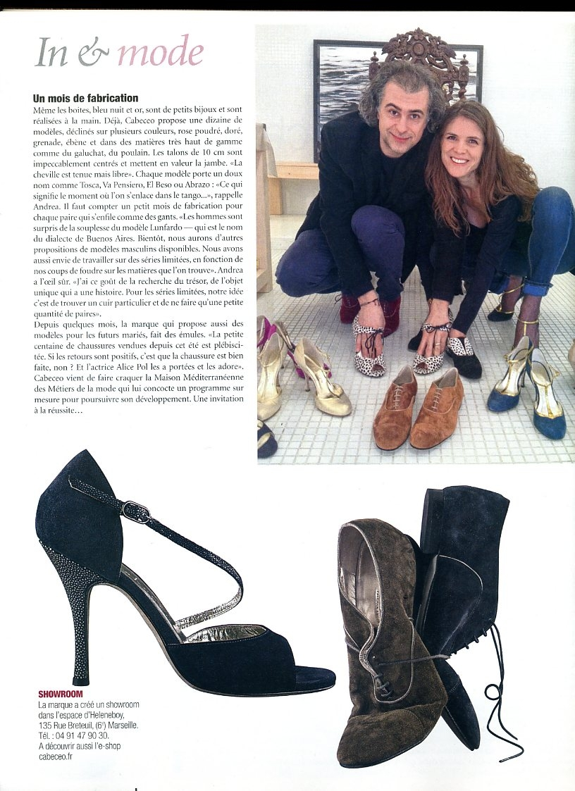 Cabeceo, Chaussures luxe