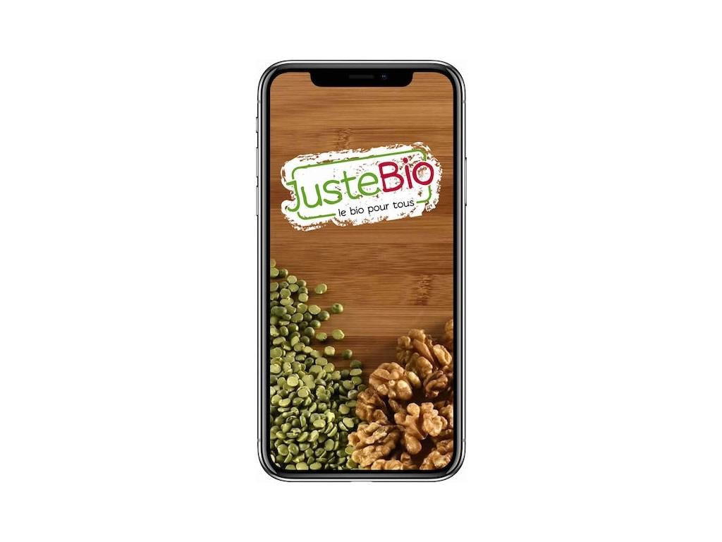 Application mobile Juste Bio