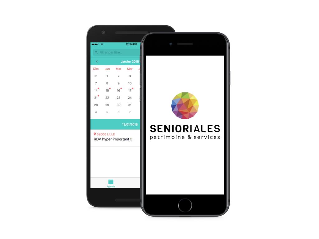 Application mobile Agenda Senioriales