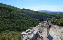 walking in theheart of theluberon from bonnieux into the fantastic gorges buoux very genuine and typical in provence