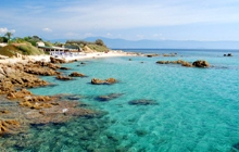 Ajaccio beach sun