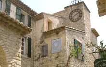 avignon seguret in the region of the vineyards of provence next to vacqueyras at the foot of the mont ventoux one of the most beautiful villages of france