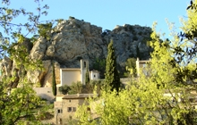 le barroux perchef village with the castle in the heart of provence vineyards