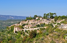 famous perched village in the heart of luberon and peter mayle