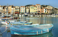 Cassis charming little fishing men port on the med sea just next to Marseille