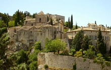 great vaison la romaine famous for its roman ruins and its medieval village and its ancient bridge