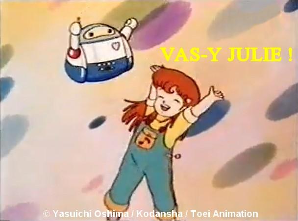 Vas y julie dessin animé